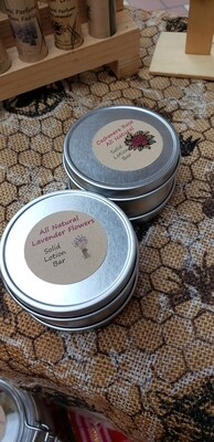 Solid Lotion Bar  in Tin