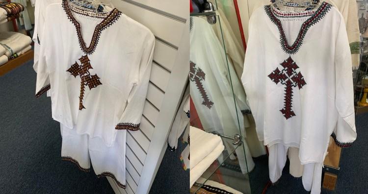Ethiopian Traditional Dress | Men | Cross |  Shirt and Pants 00066