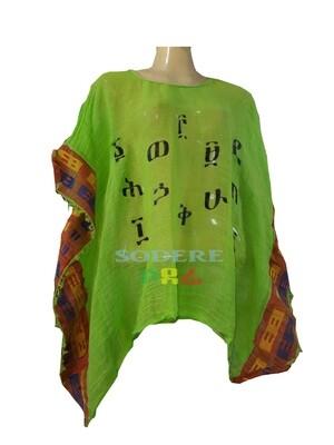 የአማርኛ  ፊደሎች ያሉበት  የሴቶች አላባሽ Amharic letter T-shirt