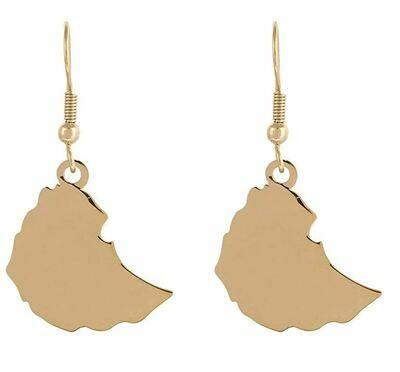 የጆሮ እና አንገት ወርቅ ቅብ የሰርግ ጌጣጌጥ Ethiopian necklace, earrings and ring set wedding set