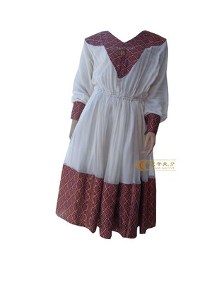 አጠር  ያለ የሀበሻ ቀሚስ  Ethiopian Traditional Short Dress / Designed By ዩቶጲያ Traditional Cloth