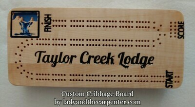 Cribbage Board - logo custom
