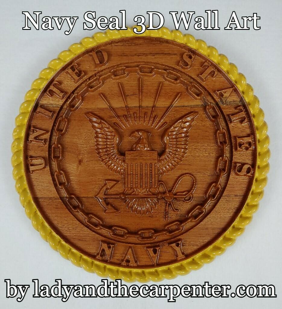 Military Seals 3D Patriotic Wall Art