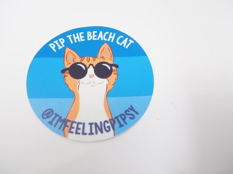 Pip in Sunglasses Round Sticker