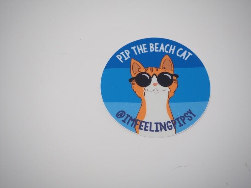 Pip in Sunglasses Small Sticker 3