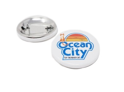Classic Ocean City Circle Button