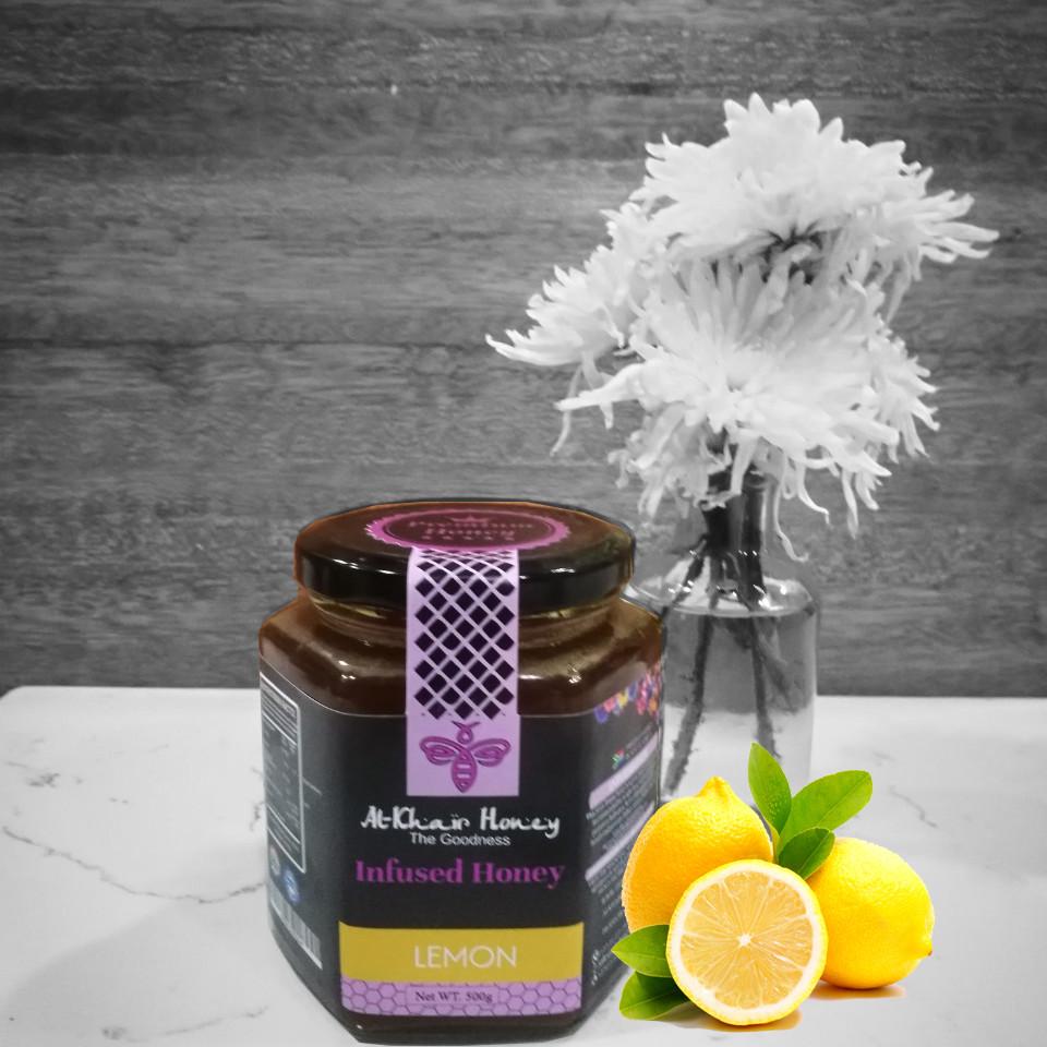 Infused Honey, Lemon, 500g Glass Jar