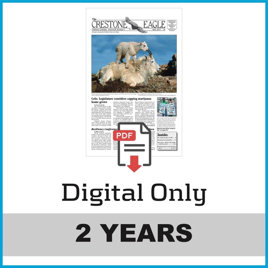 Crestone Eagle News - 2 Year Digital Subscription