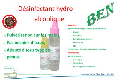 Solution Désinfectant Hydro-alcoolique 50 ml