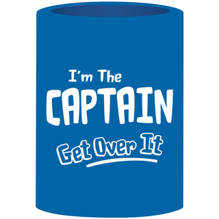 Can Cooler - I'm The Captain - Blue/White