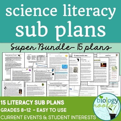 Science Literacy Sub Plans Bundle
