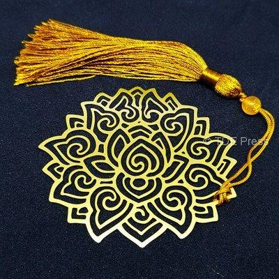 Golden Lotus Bookmark 5