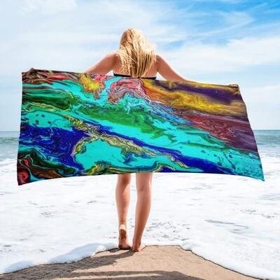 On the Bayou Printed Beach Towel