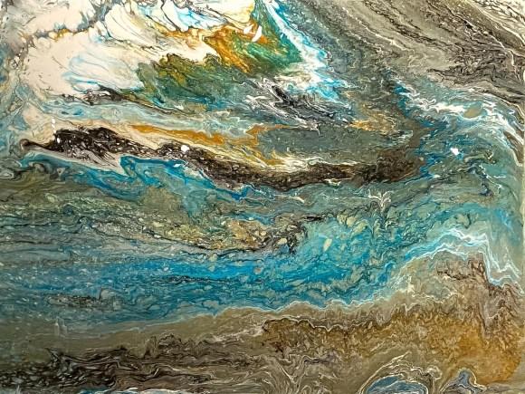 Hearts Yearn, Rivers Churn (30 in x 40 in)