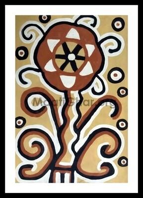 Sohrai Painting - Kamalban (22x15 in)