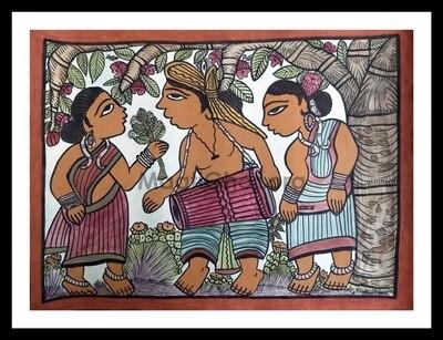 Paitkar Painting - Celebration (30x22 in)