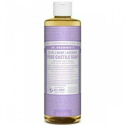 DR BRONNERS ΥΓΡΟ ΣΑΠΟΥΝΙ PURE-CASTILE LAVENTER  475ml