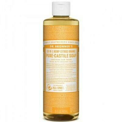 DR BRONNERS ΥΓΡΟ ΣΑΠΟΥΝΙ PURE CASTILE CITRUS ORANCE 240ml