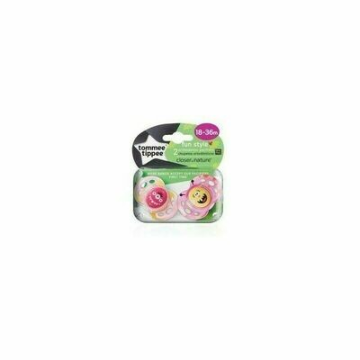 18-36 FUN STYLE ORTHODONTIC SOOTHER X2 GIRL