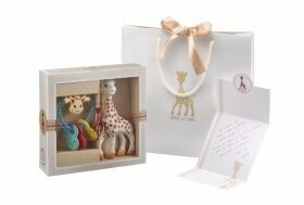 Classical creation -  composition 3  (Sophie la girafe + Heart Rattle') A gift bag and a card