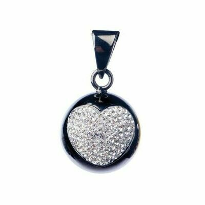 Bola black with glitter heart
