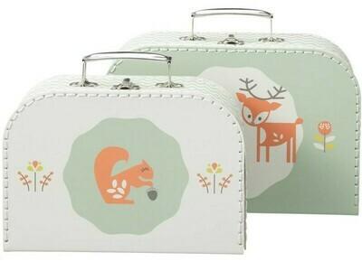 Fresk - Suitcase set 2 pcs. Deer forest green
