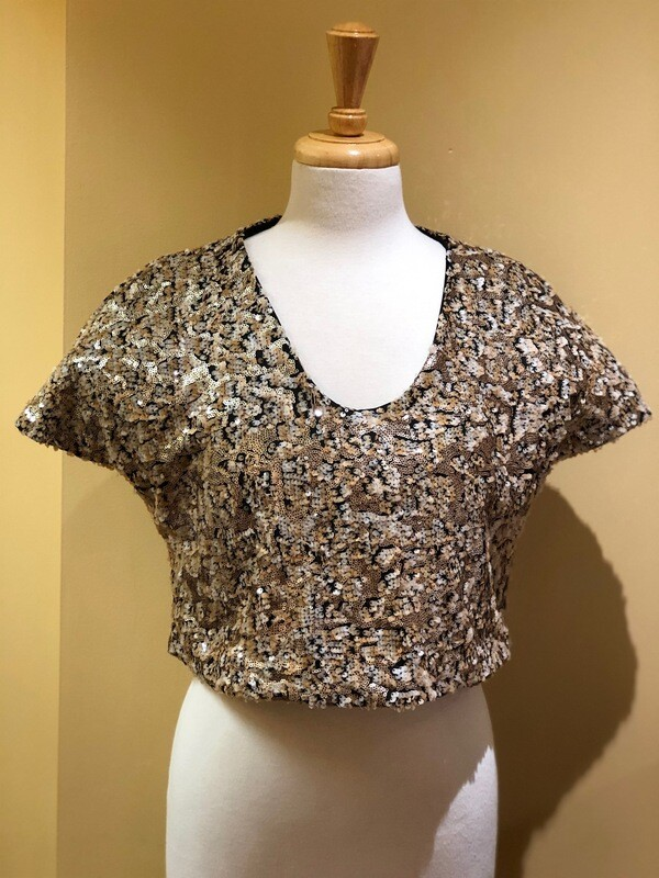 Sequin Cap Sleeve Top