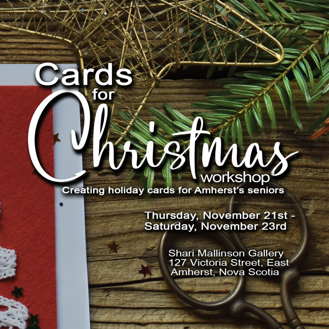 Creating Christmas Cards for Seniors - Ben Pitman, November 23 Noon-2pm