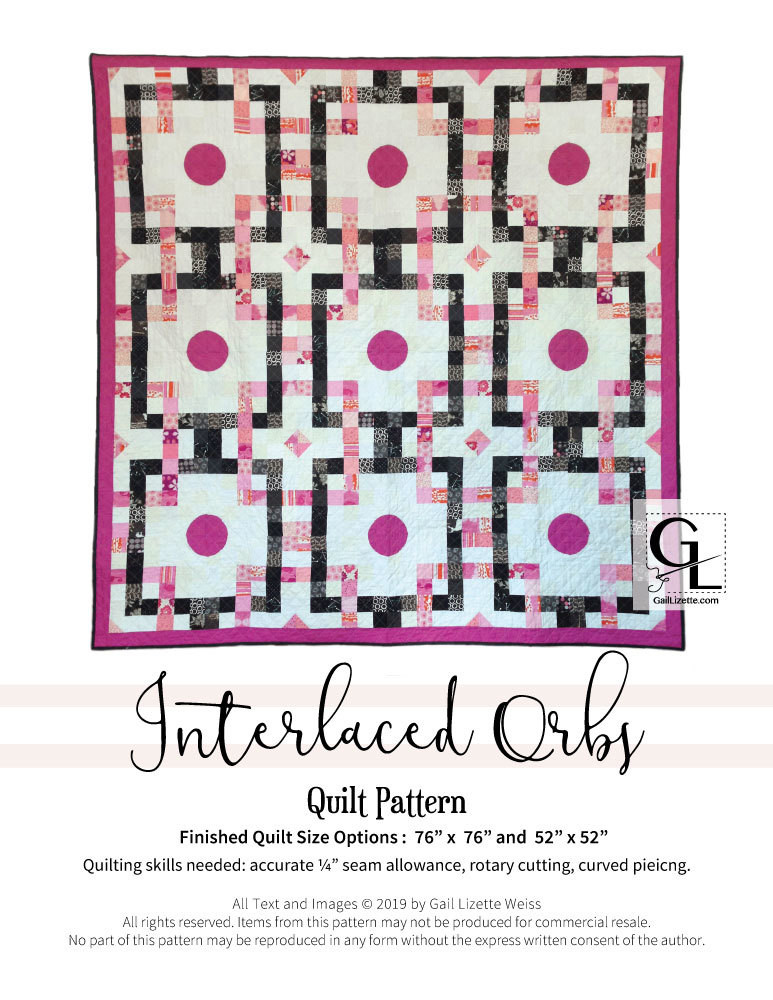 Interlaced Orbs Quilt Pattern - PDF