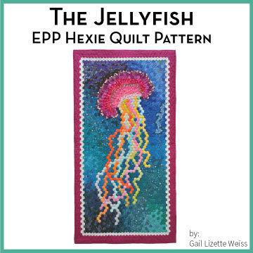 Hexie Jellyfish Quilt Pattern - PDF QP00011