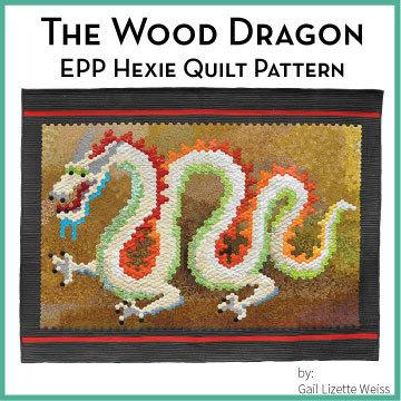 Hexie Dragon Quilt Pattern QP00012