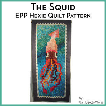 Hexie Squid Quilt Pattern - PDF