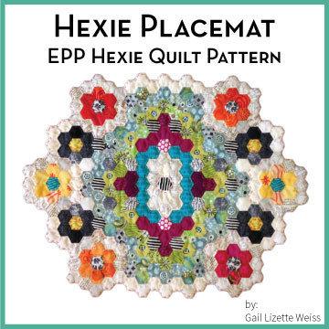 Hexie Placemat Quilt Pattern - PDF