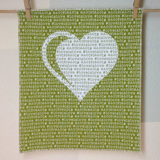 #loveislove fabric panel