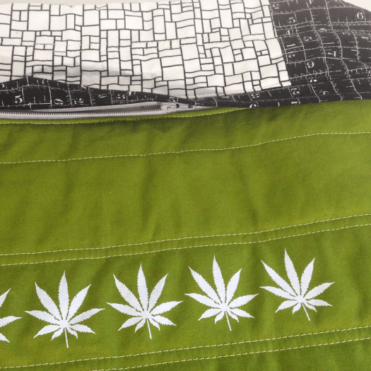 Cannabis Pillow No.2 Hidden Zipper