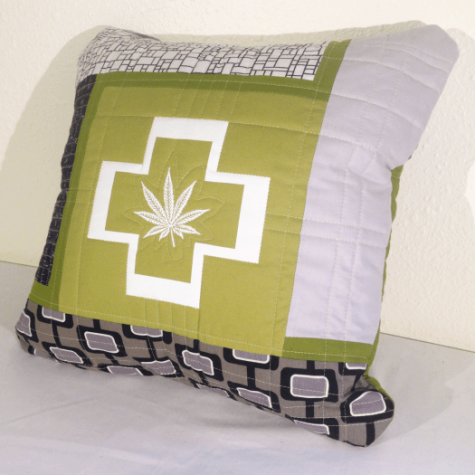 Cannabis Pillow No.2 side