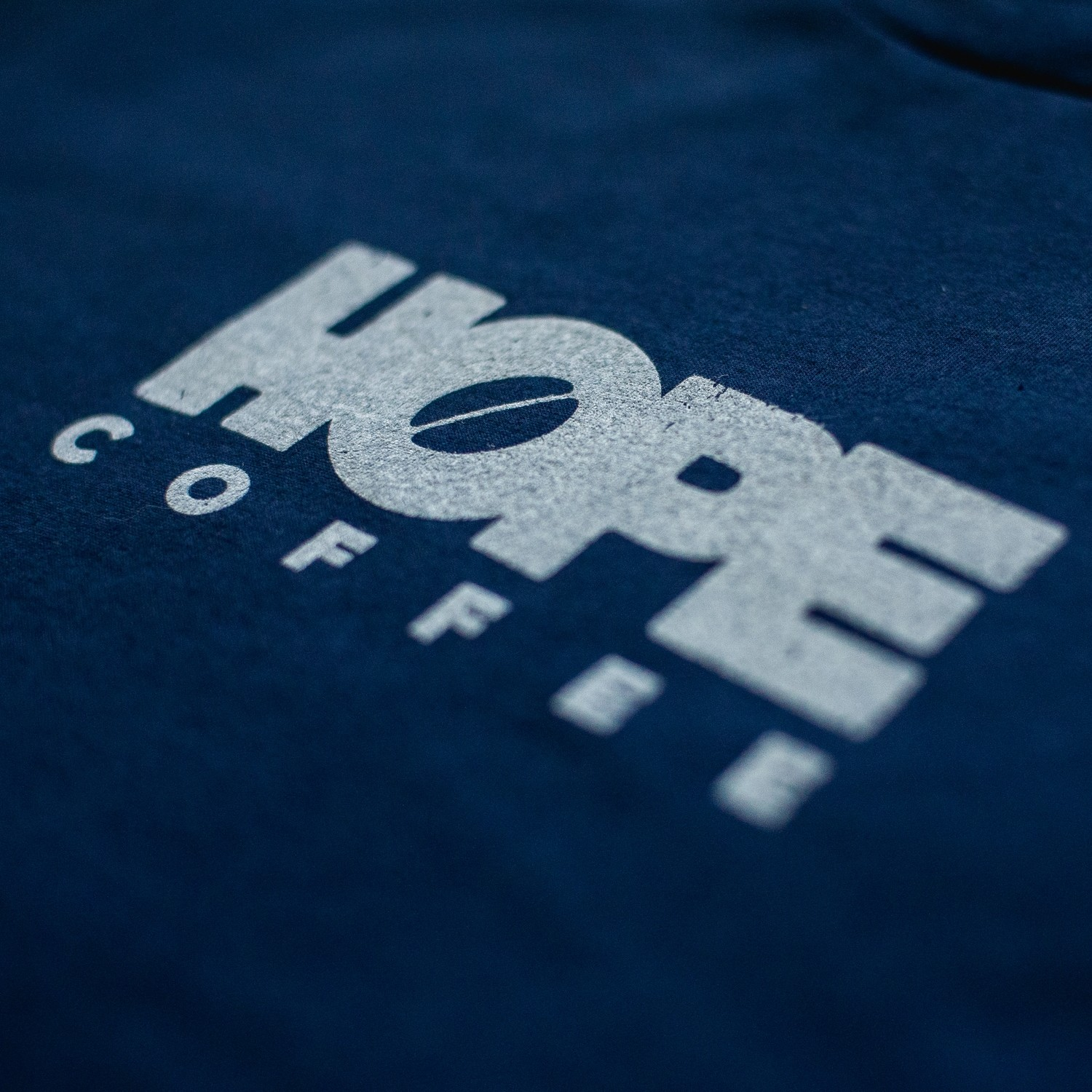 T-Shirt, Short Sleeve: HOPE Coffee Logo:  Navy