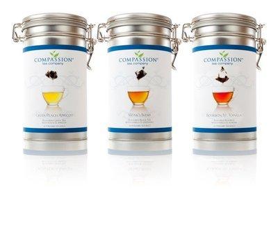 Aluminum Tins for Compassion Tea Storage