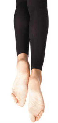 1917C 8-12 BLK Footless Tights