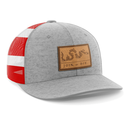 Hat - Leather Patch: Join or Die