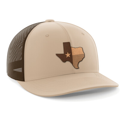 Hat - Leather Patch: Texas