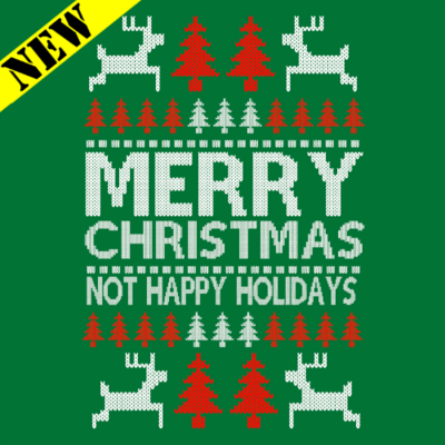 T-Shirt - Christmas Sweater - Not Happy Holidays