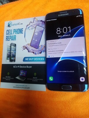 Samsung S7 Edge 32GB Storage Verizon Unlocked Screen Burn & Scuffing