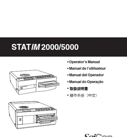 Operator's Manual STATIM 2000 & 5000 Version 5.0 01-106938S