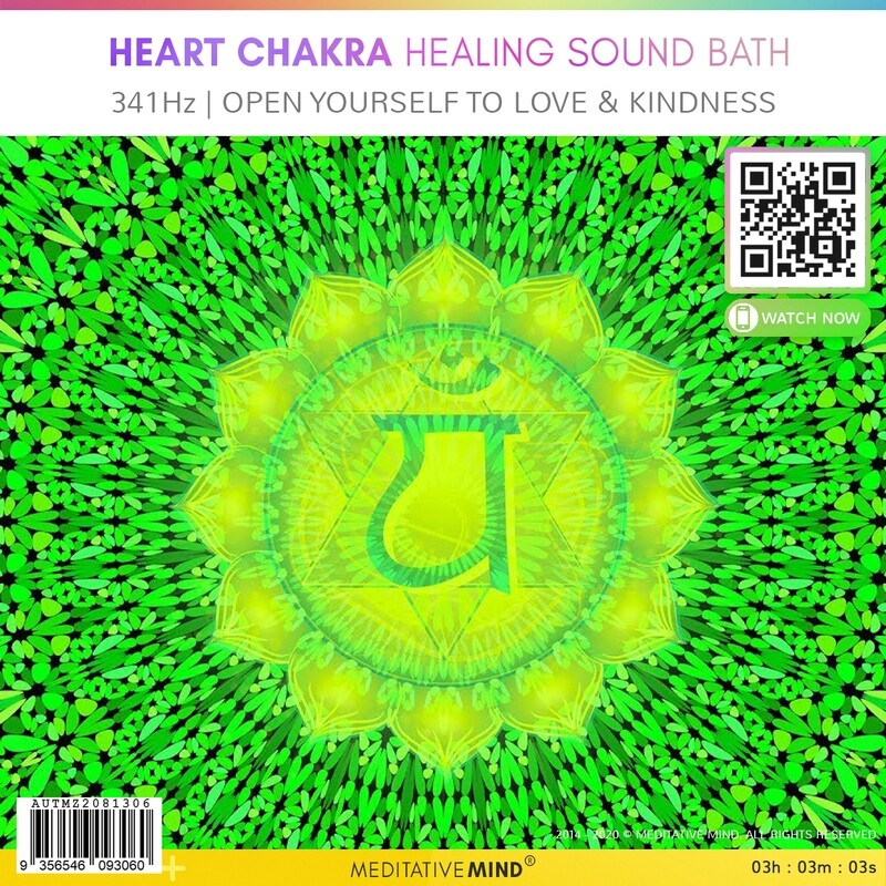 HEART CHAKRA HEALING SOUND BATH - 341Hz | Open Yourself To Love & Kindness