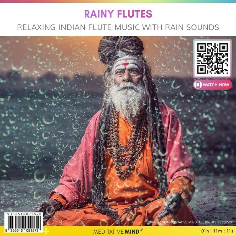 Rainy Flutes - Relaxing Indian Flute Music with Rain Sounds