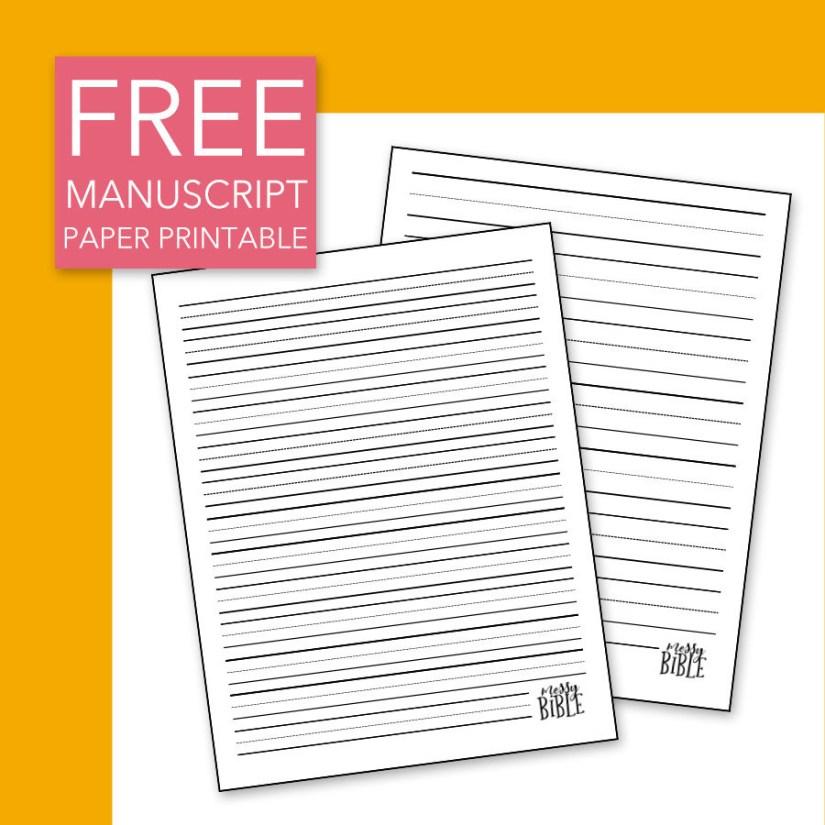 FREE Manuscript Paper Printable