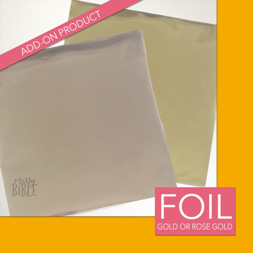 Gold or Rose Gold Transfer Foil - ADD-ON Product Only