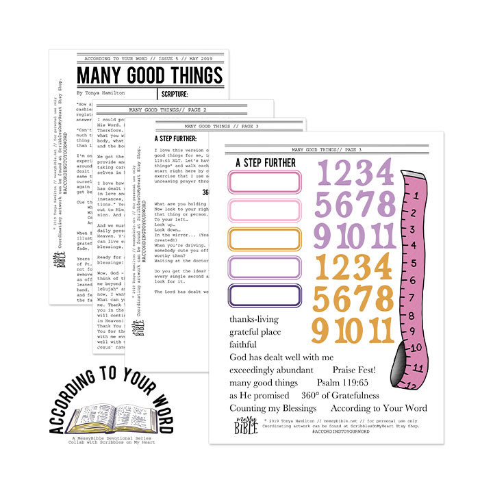 Many Good Things Devotional Kit (May '19 ATYW Digital Kit)