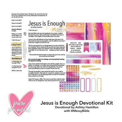 Jesus is Enough Devotion Kit (Digital Kit) - FUNDRAISER!